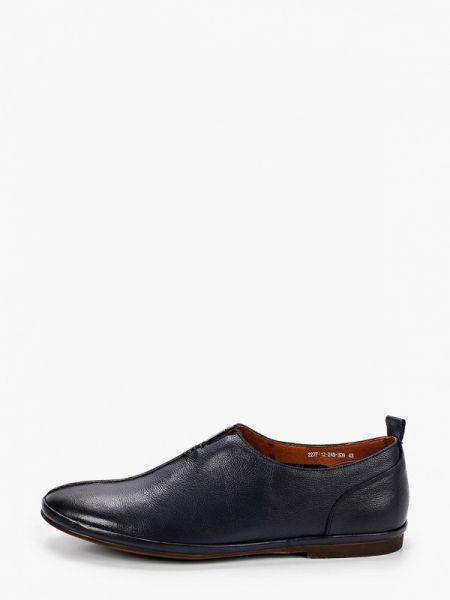 Синие кожаные туфли Rossini Roberto