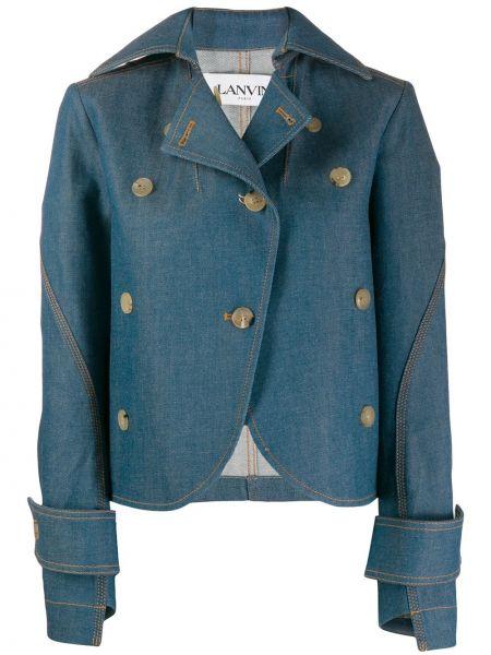 Синяя джинсовая куртка с манжетами Lanvin