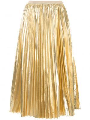 Шелковая юбка миди - желтая Proenza Schouler