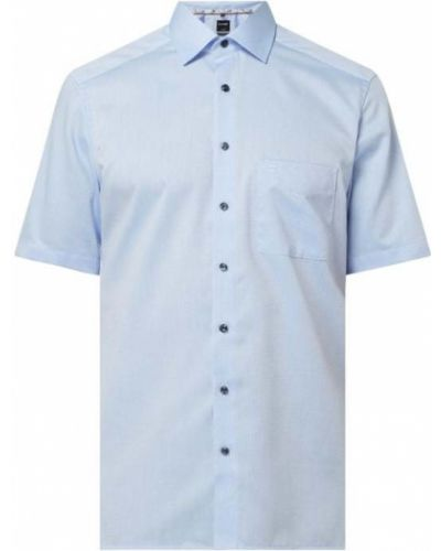 Niebieska koszula krótki rękaw bawełniana Olymp