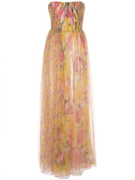 Шелковое желтое платье с вырезом без рукавов Jason Wu Collection
