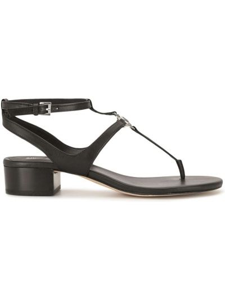 Черные кожаные босоножки на каблуке Michael Michael Kors