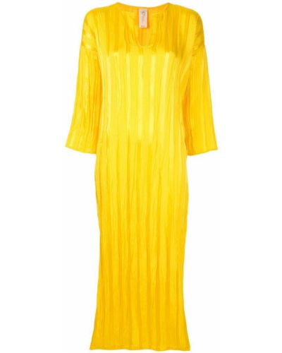 Платье атласное - желтое Zero + Maria Cornejo