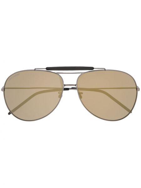 Prosto czarny oprawka do okularów metal Saint Laurent Eyewear