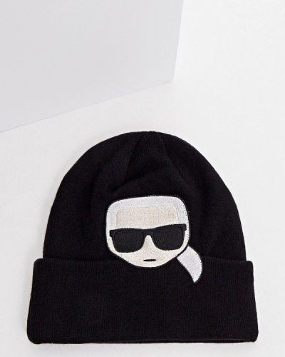 Шапка - черная Karl Lagerfeld