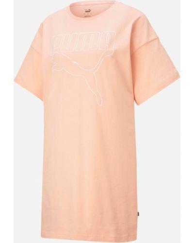 Платье в рубчик - оранжевое Puma