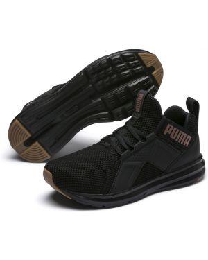 Кроссовки для бега сетчатые черные Puma