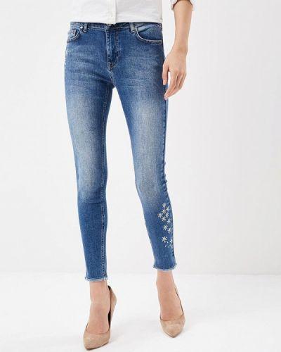 Синие джинсы-скинни Desigual