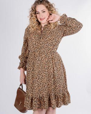 Платье в горошек со складками Jetty-plus