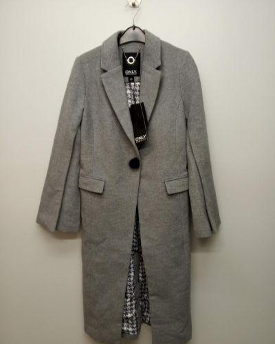 Шерстяное пальто - серое Only