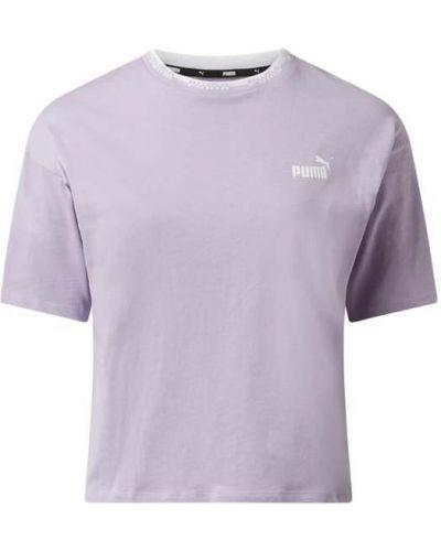 Fioletowy t-shirt bawełniany Puma