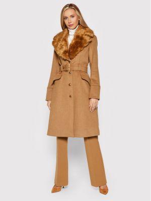 Płaszcz wełniany - brązowy Marciano Guess