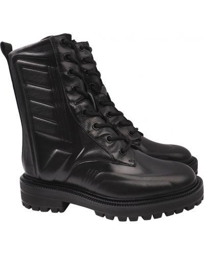 Кожаные ботинки - черные Sasha Fabiani