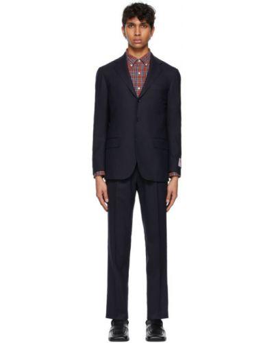 Костюмный шерстяной брючный костюм с вышивкой Ring Jacket