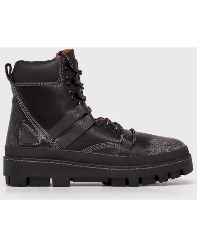 Ботинки на шнуровке кожаные высокие Diesel