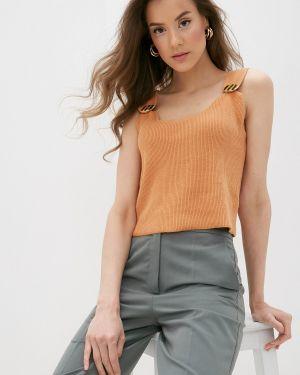 Оранжевый вязаный топ Rodier