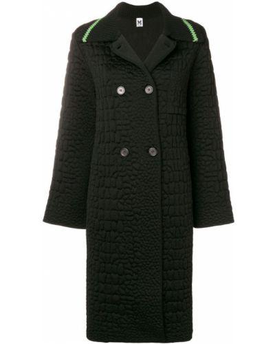 Черное длинное пальто с капюшоном на пуговицах M Missoni