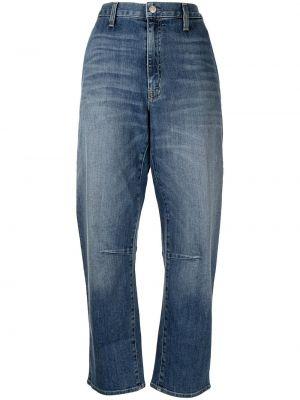 Широкие джинсы с завышенной талией - синие Nili Lotan