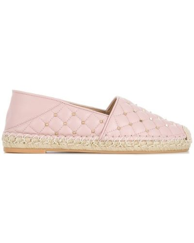 Розовые стеганые эспадрильи Valentino