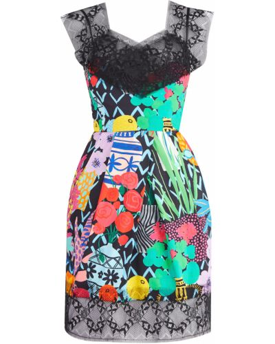 Платье мини ажурное хлопковое Emanuel Ungaro