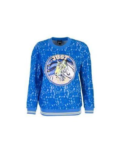 Джемпер синий Just Cavalli