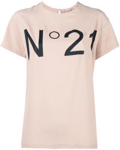 Футболка хлопковая бежевая N21