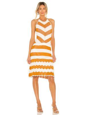 Оранжевое платье с американской проймой Bcbgeneration