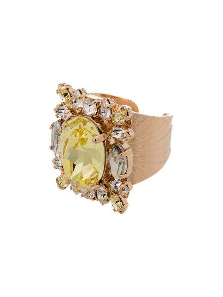 Żółty złoty pierścionek pozłacany Anton Heunis