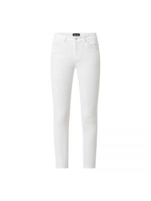 Białe jeansy bawełniane Pieces