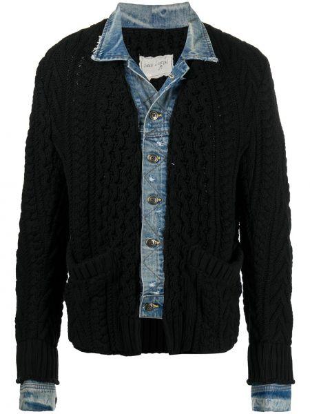 Klasyczne czarne jeansy bawełniane Greg Lauren