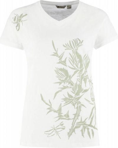 Прямая хлопковая белая футболка Outventure