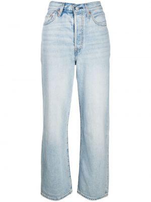 Прямые синие джинсы с высокой посадкой Levi's®