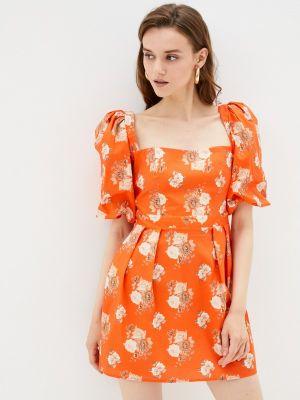 Оранжевое платье Imperial