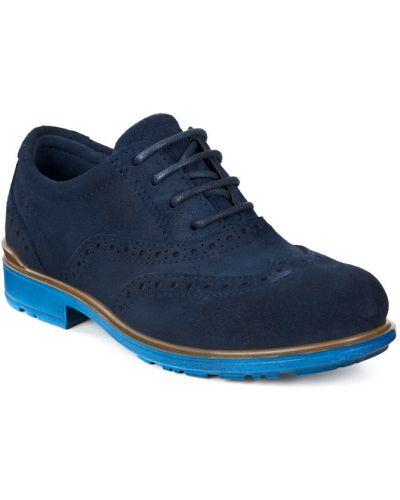 Туфли замшевый синие Ecco