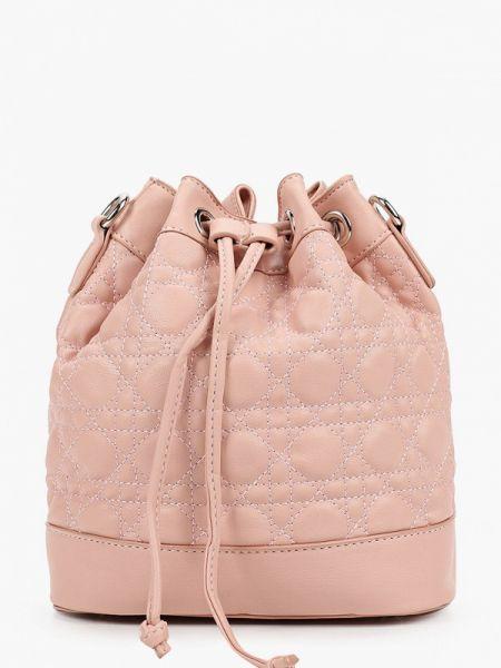 Розовая кожаная сумка из искусственной кожи Elsi