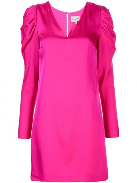 Платье мини на пуговицах с V-образным вырезом Milly