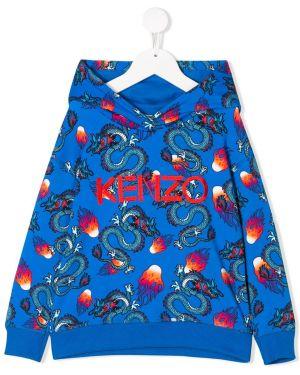 Bluza z kapturem z haftem z kapturem Kenzo Kids