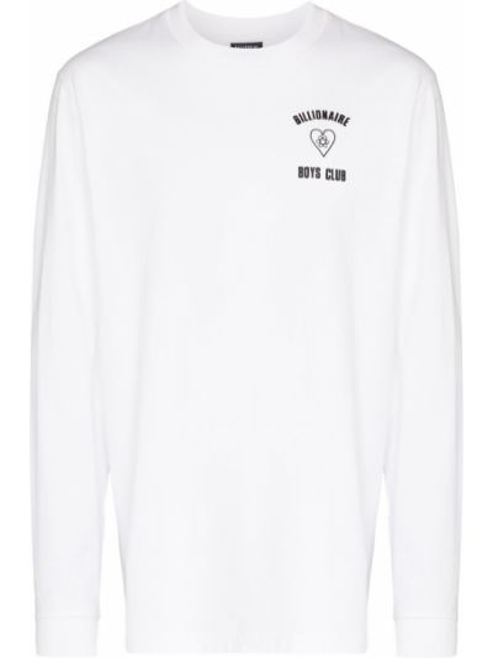 Белая футболка длинная Billionaire Boys Club