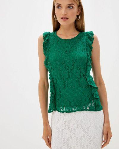 Блузка с рюшами зеленый Blugirl Folies
