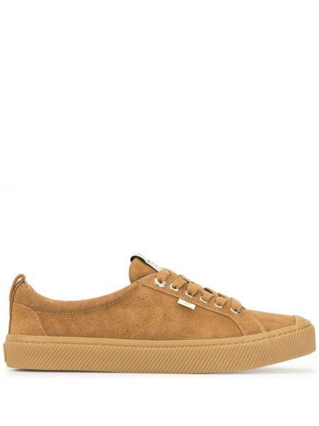 Sneakersy sznurowane koronkowe zamszowe Cariuma