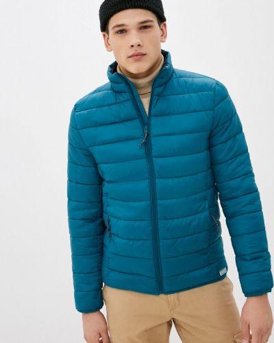 Бирюзовая утепленная куртка Springfield