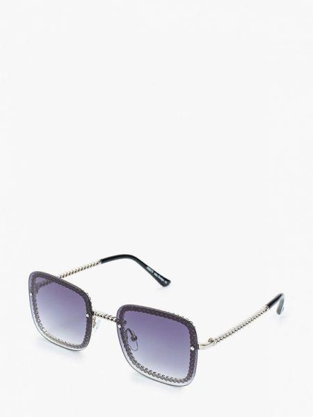 Муслиновые серебряные солнцезащитные очки квадратные Fabretti
