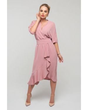Платье с поясом с запахом платье-сарафан петербургский швейный дом