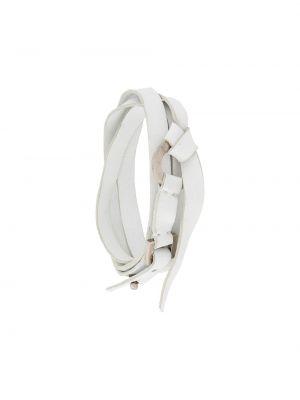 Skórzany bransoletka ze srebra biały Gianfranco Ferré Pre-owned