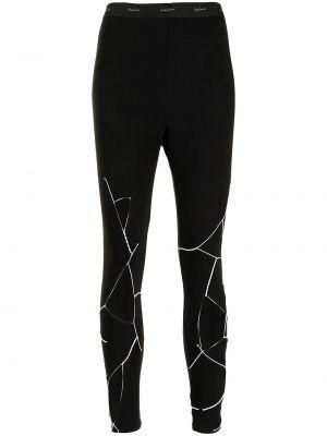 Czarne legginsy Yohji Yamamoto