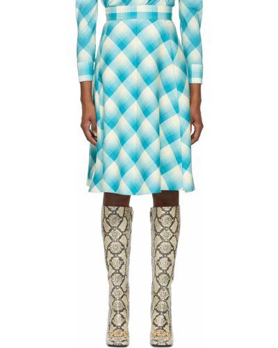 Satynowa biała spódnica Gucci