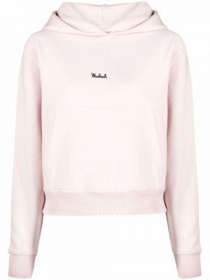 Флисовое худи - розовое Woolrich