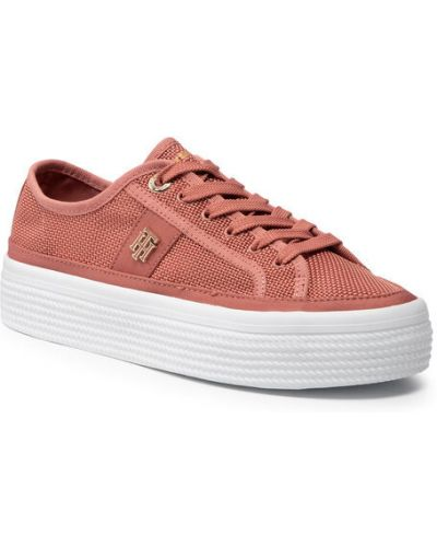 Różowe sneakersy Tommy Hilfiger