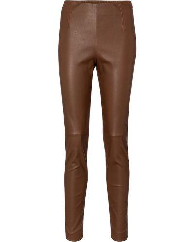 Кожаные леггинсы - коричневые 's Max Mara