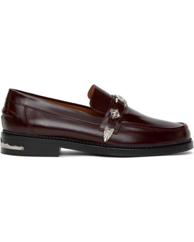 Czarne loafers skorzane kaskadowe Toga Virilis